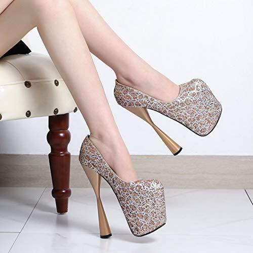 Pumps Court amp; Stiletto Primavera Donna Formal Tacco B Dress Piattaforma Scomparsa Alto A Autunno Yan Party Shoes OAwRfWqO