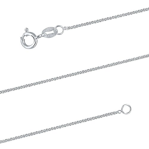 15 Inch Cable Chain (Sterling Silver 1.3mm Cable Chain Necklace Solid Italian Nickel-Free, 15 Inch)