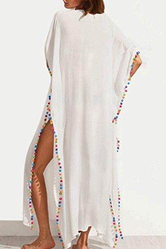 Damen Deep v-neck Schlitz Maxi Dress Strandkleid Brautkleider in Übergrößen