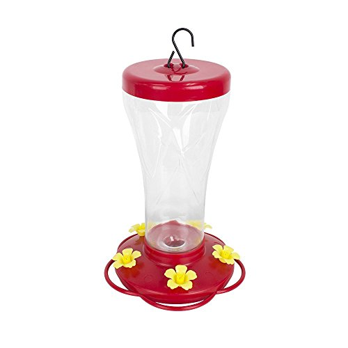 Proof Flowers Squirrel (BLUE BEAGLE 32 Ounce Hummingbird Feeder, Bird Feeders with 5 Feeding Stations for Outside)