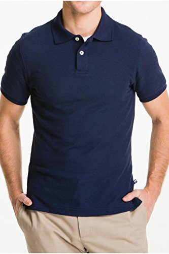 Lee Uniforms Men's Short Sleve Uniforms Polo, Navy, X-Large (Beach Outlet Long)