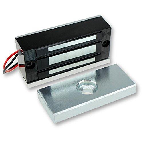 LIBO Cerradura magnética eléctrica 60 kg / 130 Libras Control de Acceso electrónico Metal Cerradura de Puerta DC12 V Fail...