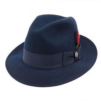 73fb76d3133f1b Stetson Dobbs TWFRDK-8220 Men's Frederick Wool Felt Fedora Hat, Navy - 7