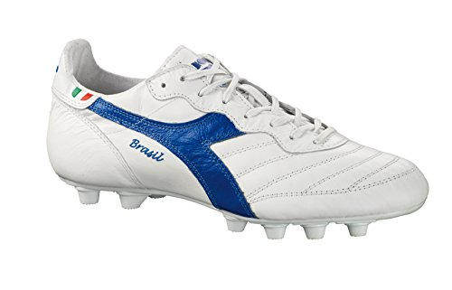 Polyurethane Italy Kangaroo Leather Blue Cleats Soccer Diadora MD OG Brasil Men's White F0gqnEwB