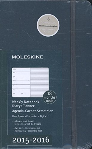 Moleskine 2015-2016 Weekly Notebook, 18M, Large, Tide Green, Hard Cover (5 x 8.25)