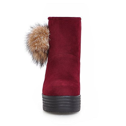 ZQ of thick wild base students the with female round flat and boots large within Warm increased short a number red head QX boots winter a rqAwr1