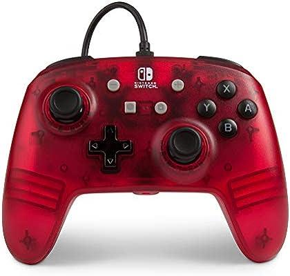 PowerA - Mando con cable, Roja frío (Nintendo Switch): Amazon.es: Videojuegos