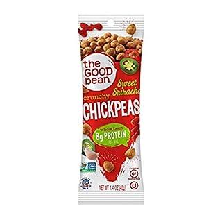 The Good Bean Crunchy Chickpeas Snacks Grab & Go, Sweet Sriracha, 1.4 Ounce, 10 Count
