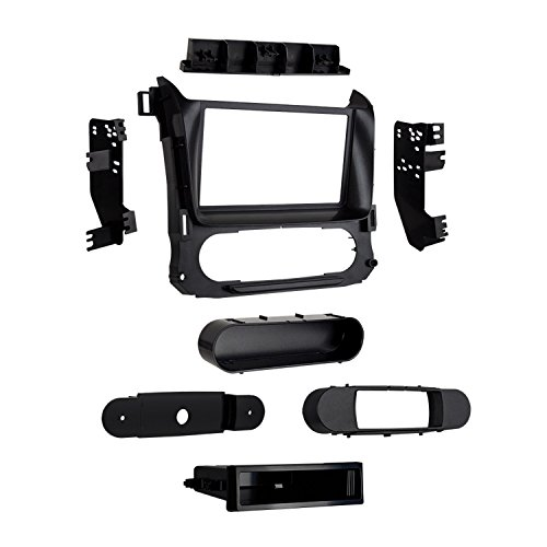 2016 Chevy Suburban Dash - Metra 99-3015G Double/Single DIN Installaton Dash Kit for 2015-Up Tahoe, Suburban and Yukon (Black)