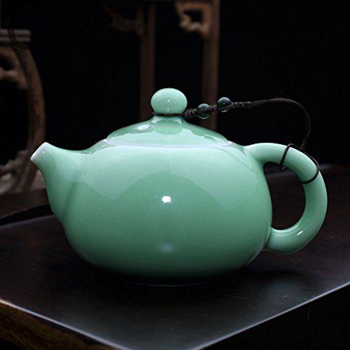 ufengkeBeautiful Cute Green Longquan Celadon Porcelain Xishi Teapot For One Person