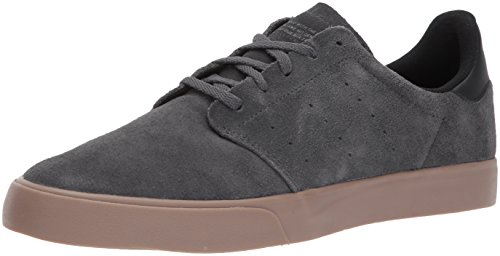 adidas Originals Men's Seeley Court, Dark Solid Grey/Black/Gum, 12 Medium US