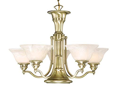 Vaxcel CH30306A Standford 6 Light Chandelier, Antique Brass Finish ()