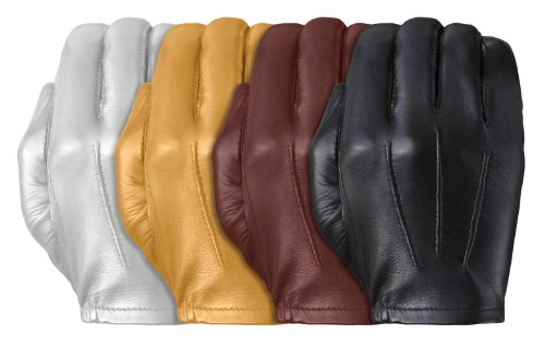 (Tough Gloves Men's Ultra Thin Patrol Cabretta unlined leather gloves Size 7 Color Black)