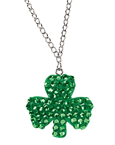 Dangling Pave Necklace (St. Patrick's Day Bling Necklace)
