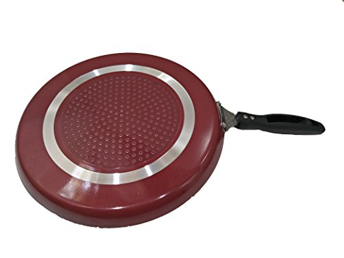 Best Nonstick Pan,Induction Base Non-Stick Dosa Tawa/Griddle,Dosa Pan,Non-Stick Induction Base Fry Pan,Thickness 3 mm, Size 10 X 10 inches With one Piece Wooden Spatula and One Piece Plastic Scrubber