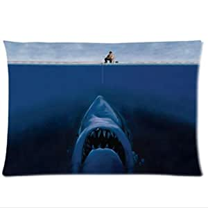 Personalized Design Fishermen Is Fishing The Shark Shark Pillowcase,Twin Sides Pillowcase Pillow Cover 20x30 inches by icecream design