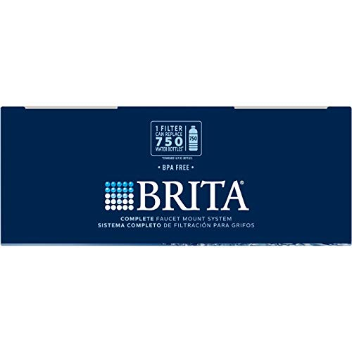 Brita Tap Water Filter System, Water Faucet Filtration System with Filter Change Reminder, Reduces Lead, BPA Free, Fits Standard Faucets Only - Complete, White by Brita (Image #9)