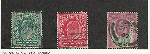 Great Britain, Postage Stamp, 127-129 Used, 1902, JFZ