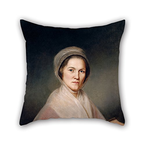 (Pillowcover Of Oil Painting Charles Willson Peale - Eleanor Miller (Mrs. Francis Bailey) 20 X 20 Inches / 50 By 50 Cm,best Fit For Floor,saloon,kids Girls,girls,drawing Room,bar Twice Sides)