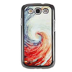 GHK - Color Spiral Pattern Mirror Smooth Back Hard Case with HD Screen Film 3 Pcs for Samsung Galaxy S3 I9300
