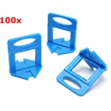 New 100Pcs Leveler Ceramic Clips Spacers Plastic Tile Wall Floor Leveling System Tool