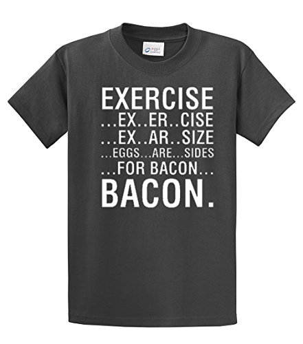 Exercise-Eggs-Are-Sides-For-Bacon-T-Shirt-charcoal-medium