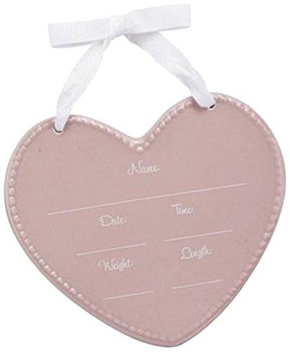 C.R. Gibson Stepping Stones Ceramic Keepsake Gift Set, Pink Heart ()