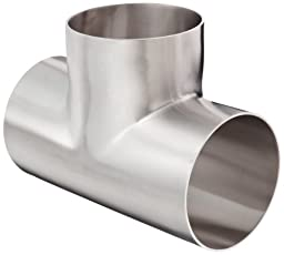 Dixon B7W-G400P Stainless Steel 304 Polished Fitting, Weld Long Tee, 4\