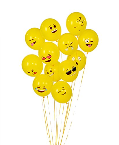Emoji Universe Series One: Latex Emoji Smiley Face Balloons 72 Pack Yellow by Unknown