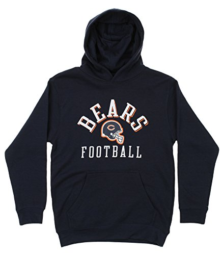 Reebok Chicago Bears NFL Big Boys Youth Football Fleece Hoodie, Navy XL 18-20