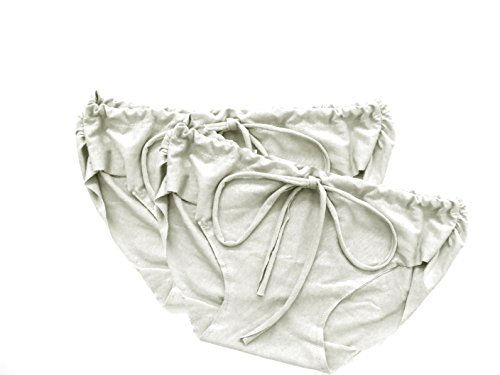 Pretty Pushers Women's Postpartum Underwear 2-Pack L (10-12 pre-pregnancy) Cream