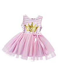 IBTOM CASTLE Baby Girls Princess 1st/2nd Birthday Cake Smash Tulle Dress Outfit