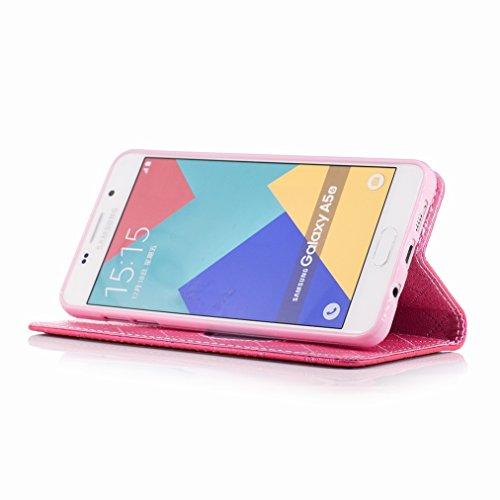 Yiizy Samsung Galaxy A5 (2016) / A510F / A510M / A510FD / A510Y Custodia Cover, Amare Design Sottile Flip Portafoglio PU Pelle Cuoio Copertura Shell Case Slot Schede Cavalletto Stile Libro Bumper Prot