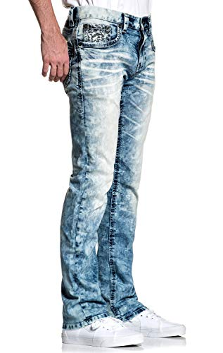 American Fighter Legend Axis Manner Slim Straight Denim Jeans Pants for Men by Affliction