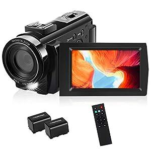 Flashandfocus.com 41BJ7Ndf46L._SS300_ HD Video Camera, toberto Camcorder Video Cameras Full HD 1080P Digital Camera 15FPS 24.0 MP Vlogging Camera Recorder 3.0…