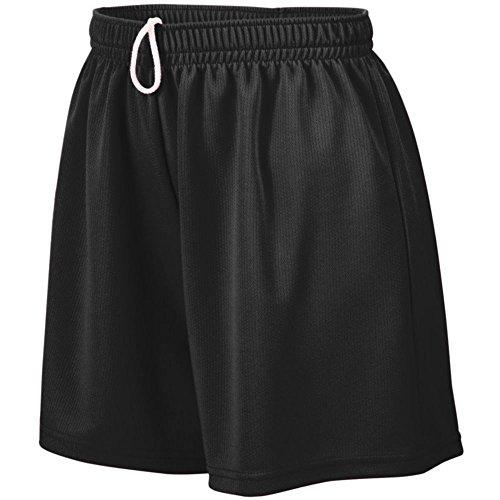 Augusta Athletic Ladies Wicking Mesh Short, Black, Medium by Augusta Athletic