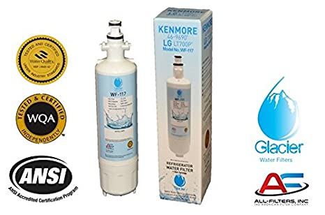 lg refrigerator replacement filter lt700p. amazon.com: lg refrigerator water filter replacement - fits for lt700p, adq36006101, kenmore 46-9690 compatible with lg lt700p r
