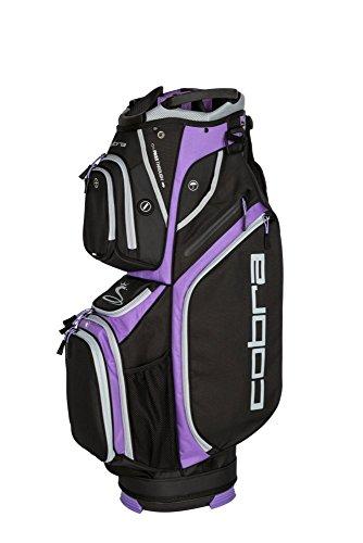 Cobra Golf 2018 Women's Ultralight Cart Bag (Black-Dahlia - Bags Golf Cart Ladies