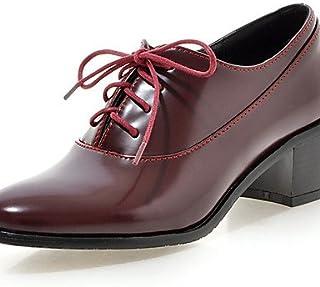 Njx/femme Chaussures Chunky Talon Bout Rond Oxfords Robe/décontracté Noir/blanc/bordeaux MJKIK