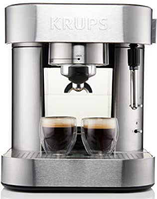 KRUPS XP6010 Pump Espresso Machine with Thermo Block System and Stainless Steel Housing, Silver
