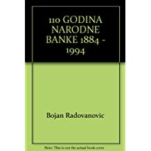 110 GODINA NARODNE BANKE 1884 - 1994