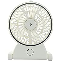 Humidifier Fan,Eridge Handheld USB Mini Fan Portable Cooling Misting Humidifier Water Spray Desk Fans With Built In Rechargeable Battery (white)