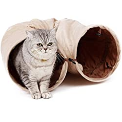 PAWZ Road Cat Tunnel, Suede Material kitty play toys for Cats and Bunnies