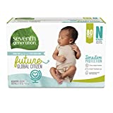 Seventh Generation Baby Diapers, Size Newborn, 80