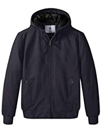 WenVen Men's Casual Quilted Bomber Jacket