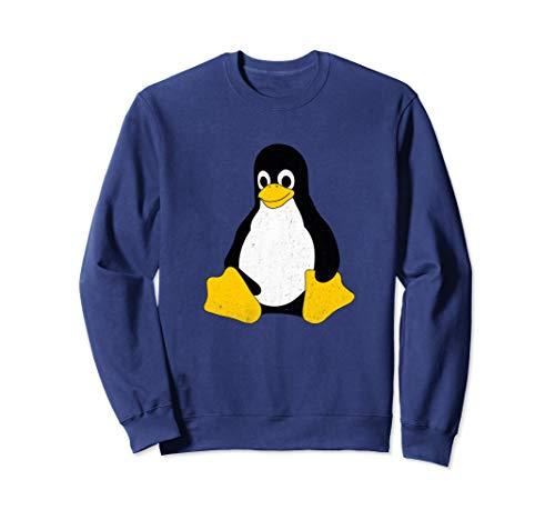Tux Sweatshirt (Linux Mascot Tux Penguin Vintage Sweatshirt Gift Men Women)
