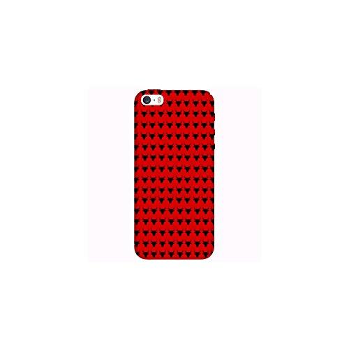 Coque Apple Iphone 5-5s-SE - Taureaux Fond Rouge