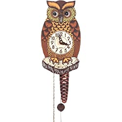 Alexander Taron Importer 861-1 Black Forest Owl Clock with Moving Eyes