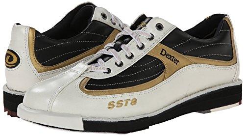 Dexter Mens Sst 8 Scarpe Da Bowling Bianco / Nero / Oro