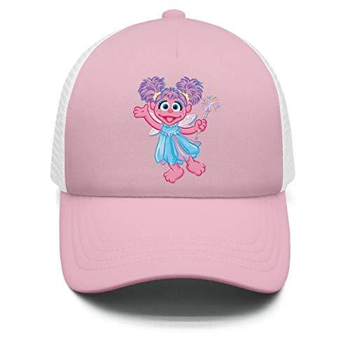 KLGJARFG Kids Girls Printed Light-Pink Muppet-Abby-Cadabby-Cartoon-Flower-Dad TruckerFitted Baseball Caps]()